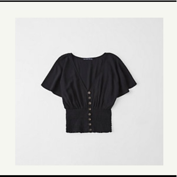 Abercrombie & Fitch Tops - Abercrombie and Fitch Smocked Kimono Top